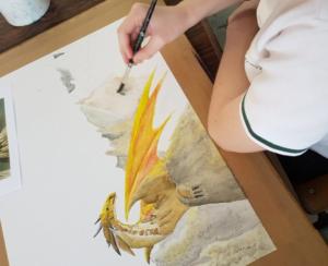 Dragon water colour art work